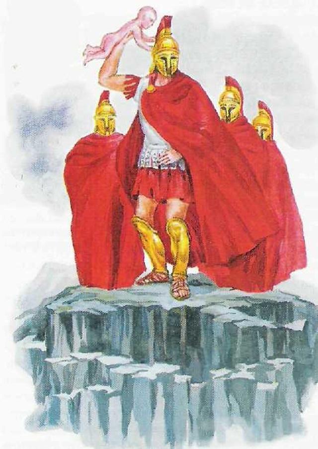 воин на скале