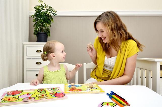 мама и дочка за занятиями