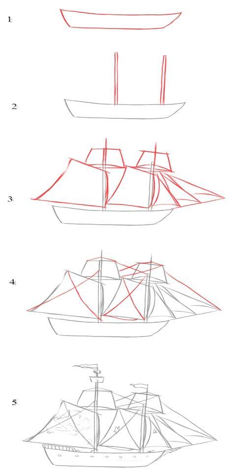 двухмачтовая яхта