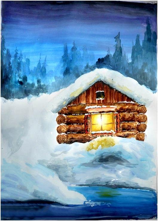 раскрасить снег