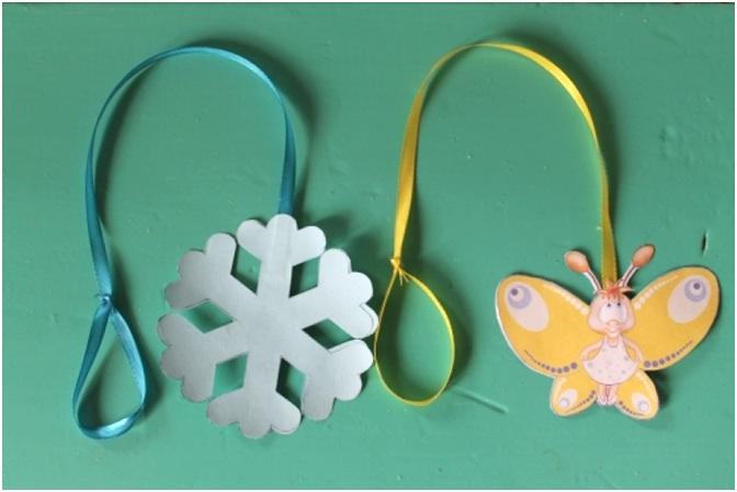 снежинки и бабочки