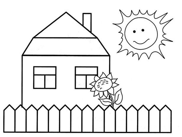 рисованный домик
