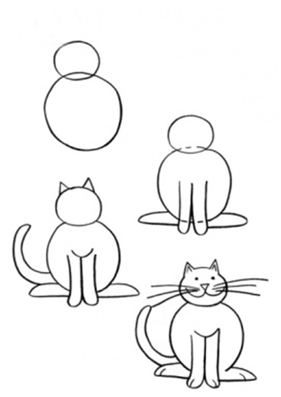 рисовать кошек