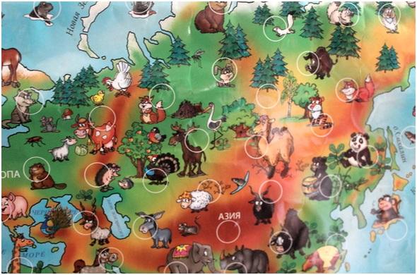 карта со зверюшками