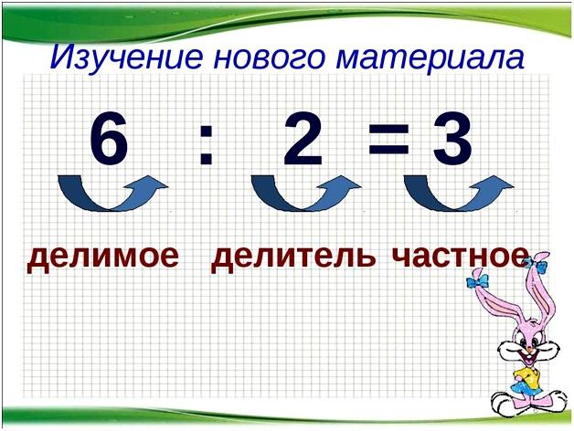 шесть разделить на два