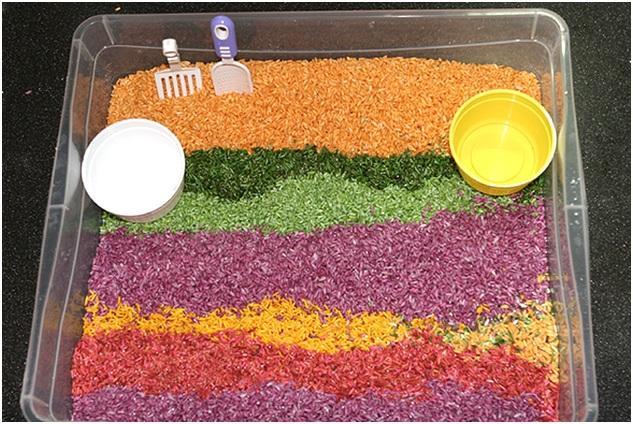 разноцветное пшено
