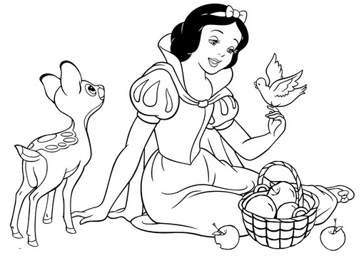 Белоснежка и яблоки
