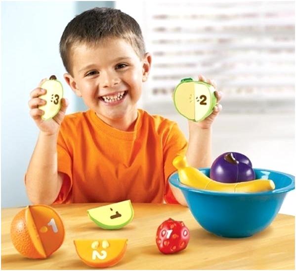 числа на фруктах