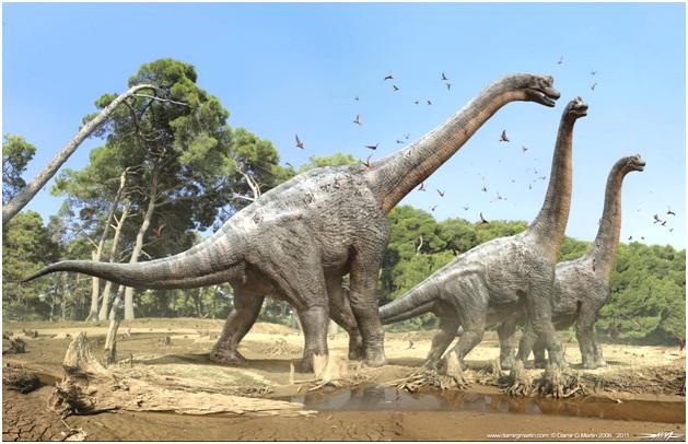 огромный брахтиозавр