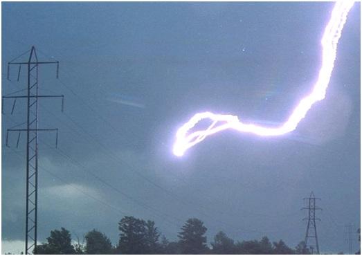 молния в провода