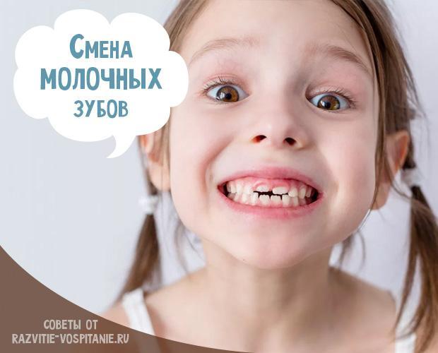 Сроки выпадения молочных зубов