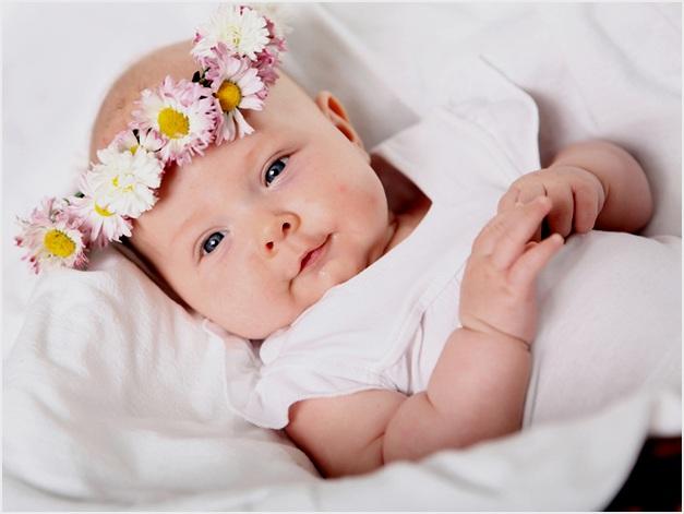 в красивом веночке