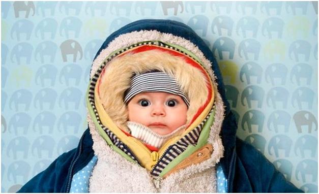 тепло одет