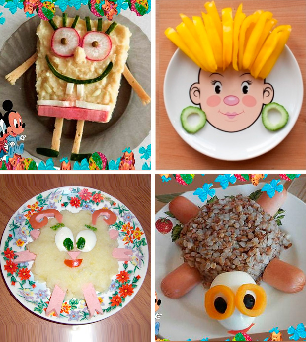 детское оформление блюд