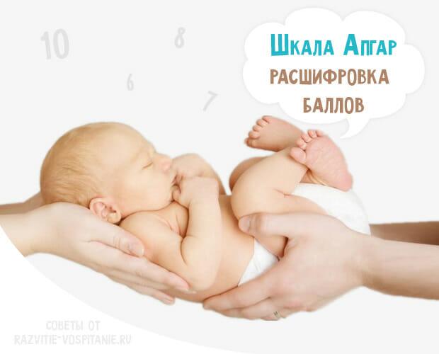 Таблица со шкалой Апгар норма и расшифровка результатов оценки новорожденного ребенка