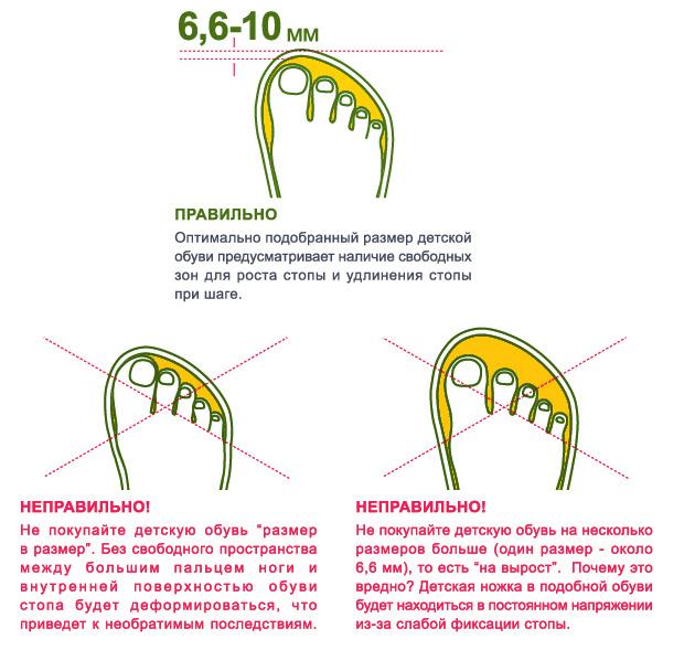 определение длины стопы