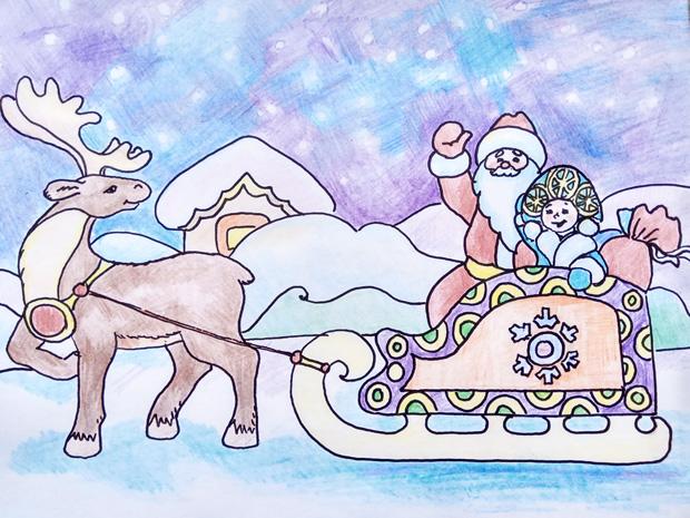 Как нарисовать деда мороза ребенку 5 лет thumbnail