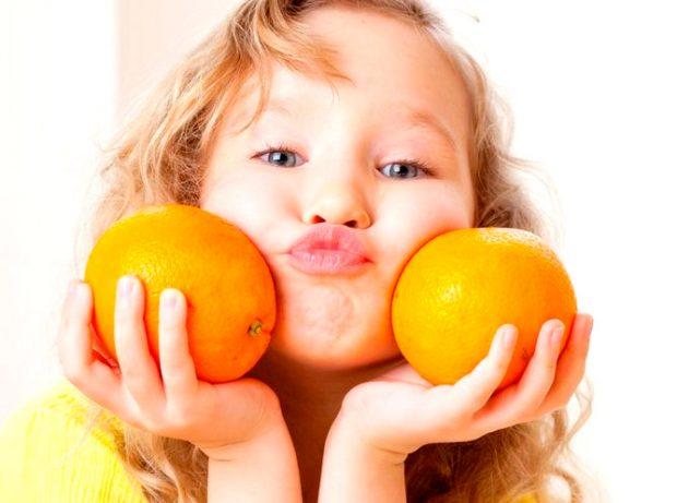 апельсины и девочка