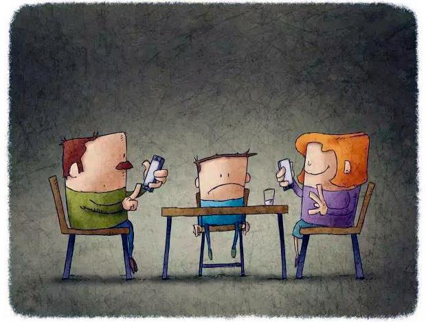 родители с телефонами